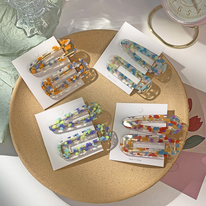 Colorful Resin Hairclip for Everyday Hairstyles