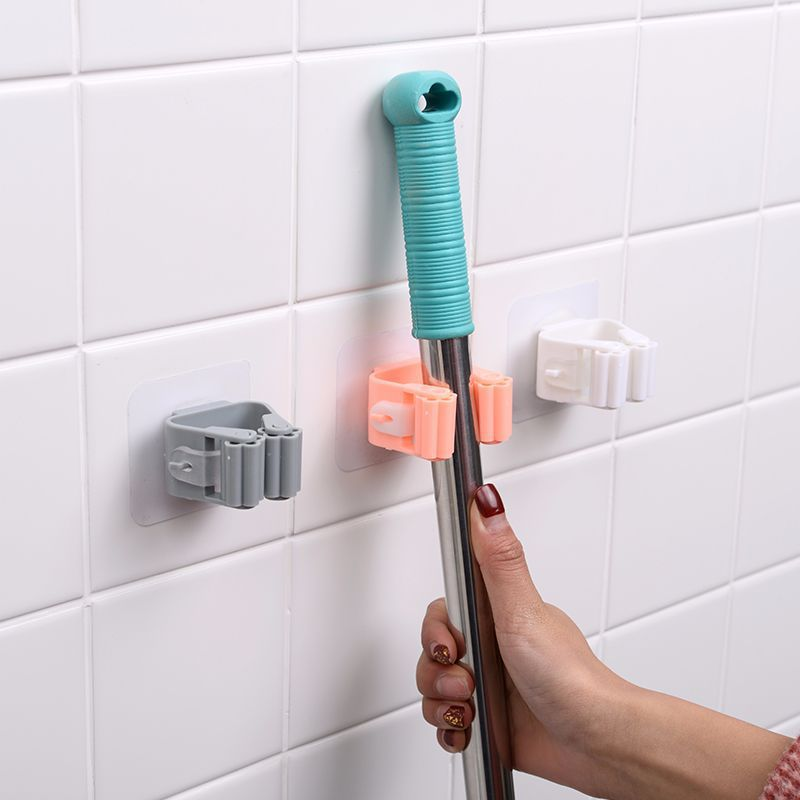Toilet Cleaning Mop Clip for Bathroom Storage