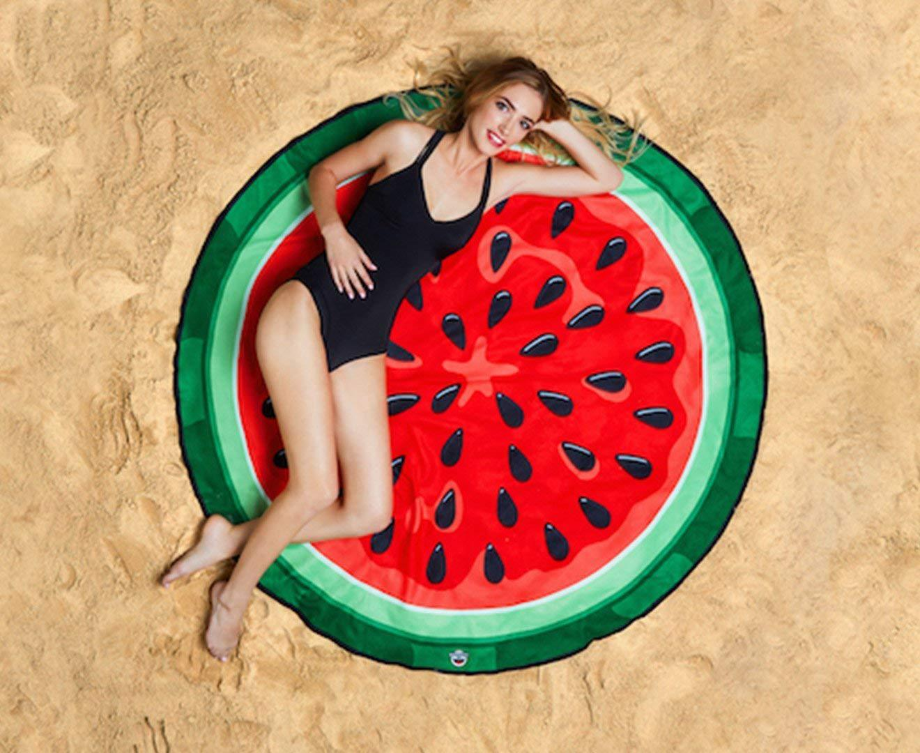 Creative Colorful  Printed Round Beach Wrap for Summer Swimming Towel