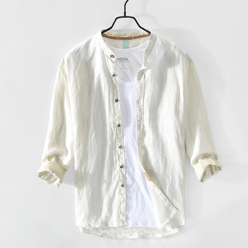 Sporty Striped Shirt Jacket for Young Men's Fashion