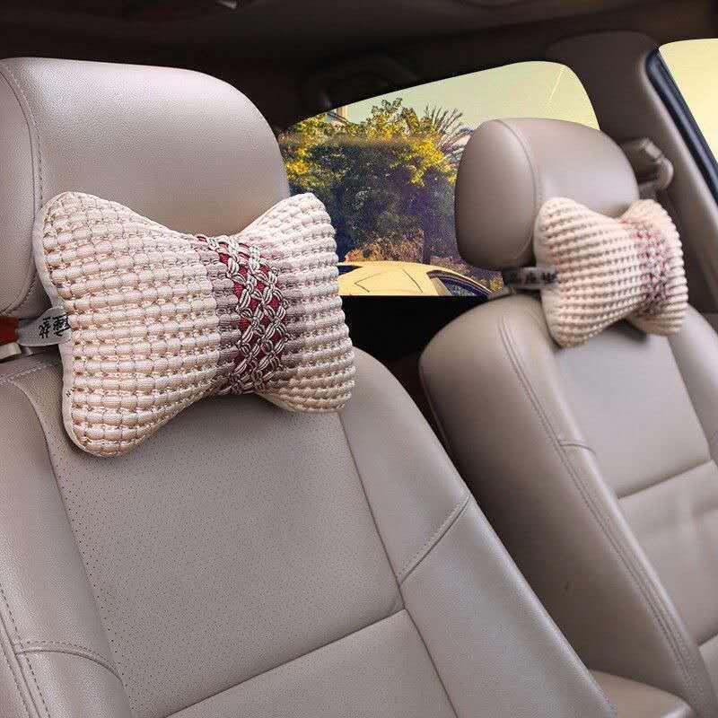 Textured Comfy Headrest Neck Pillow for Car Trips