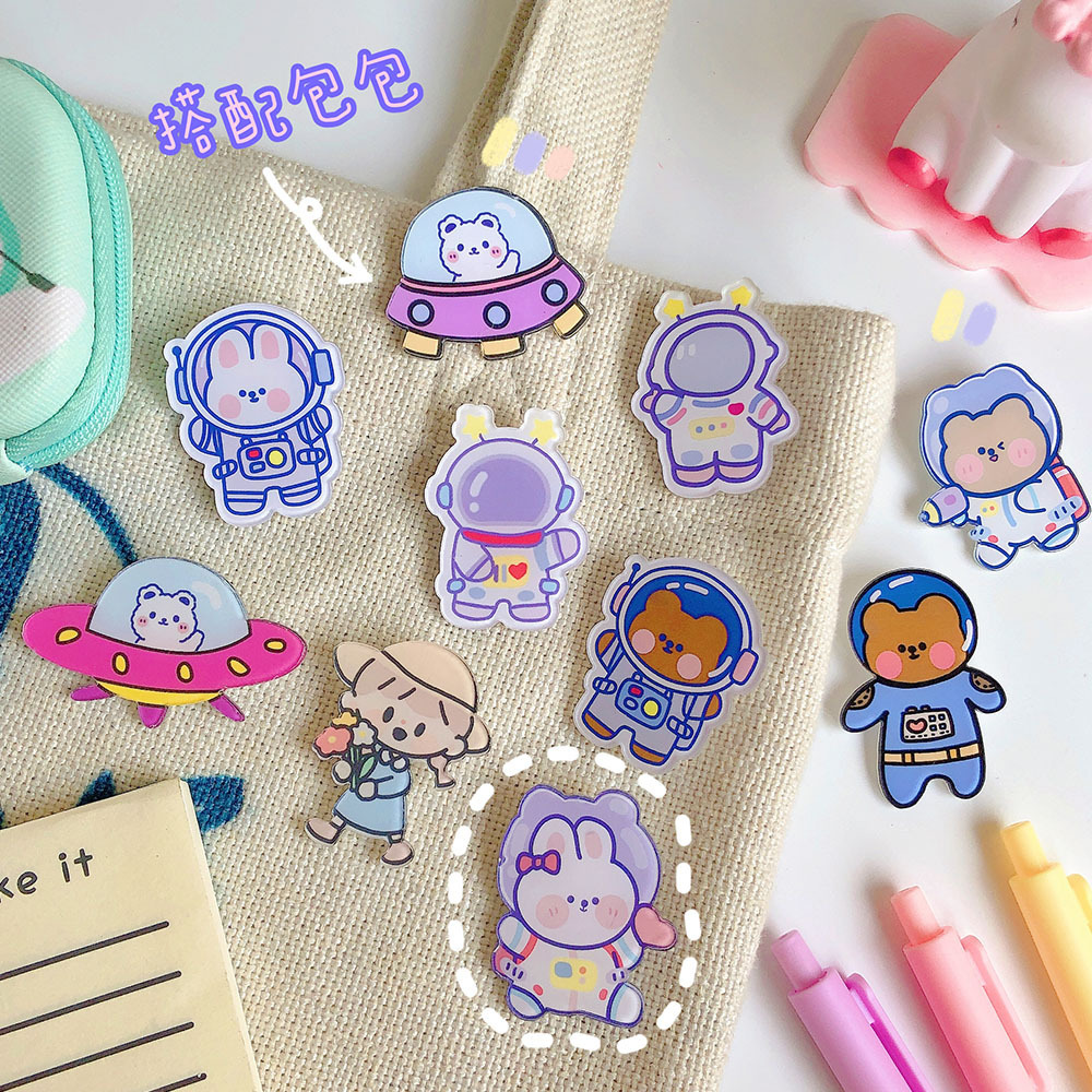 Adorable Astronaut Rabbit Cloth Patch for Customizing Kid's Apparels