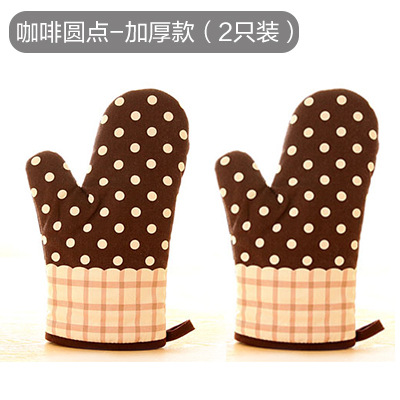 Decorative Heat Resistant Oven Mittens for Safe Baking