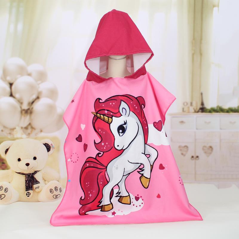 Absorbent Cartoon Hooded Towel for Kids