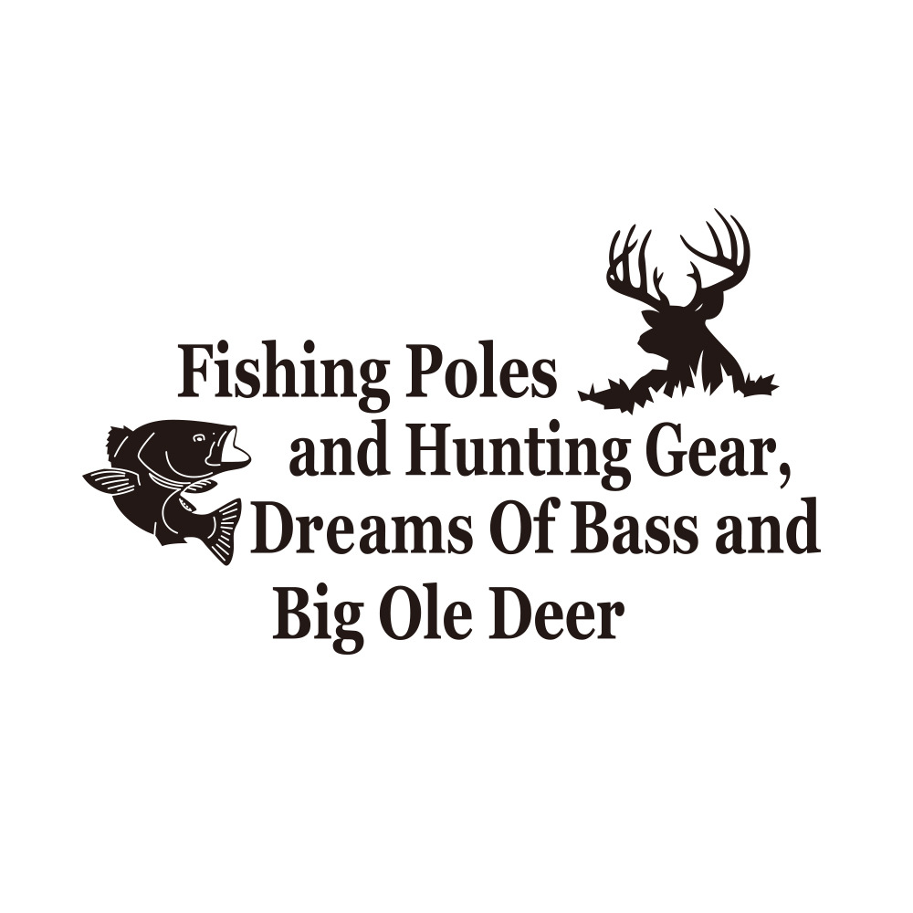 """Basic """"Fishing Poles"""" Statement Sticker for Gift Ideas to Fathers"""