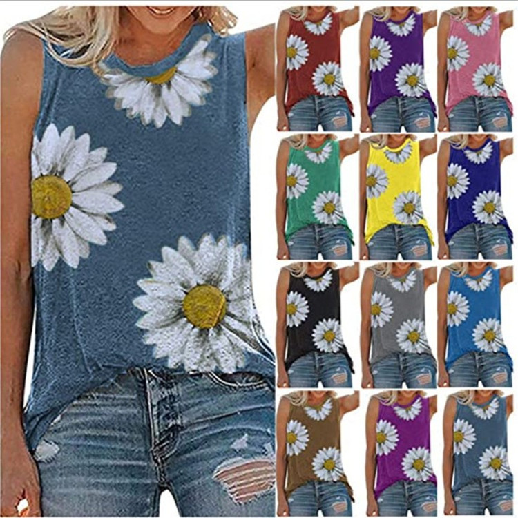 Full Bloom Daisy Tank Top for Spring and Summer Wear