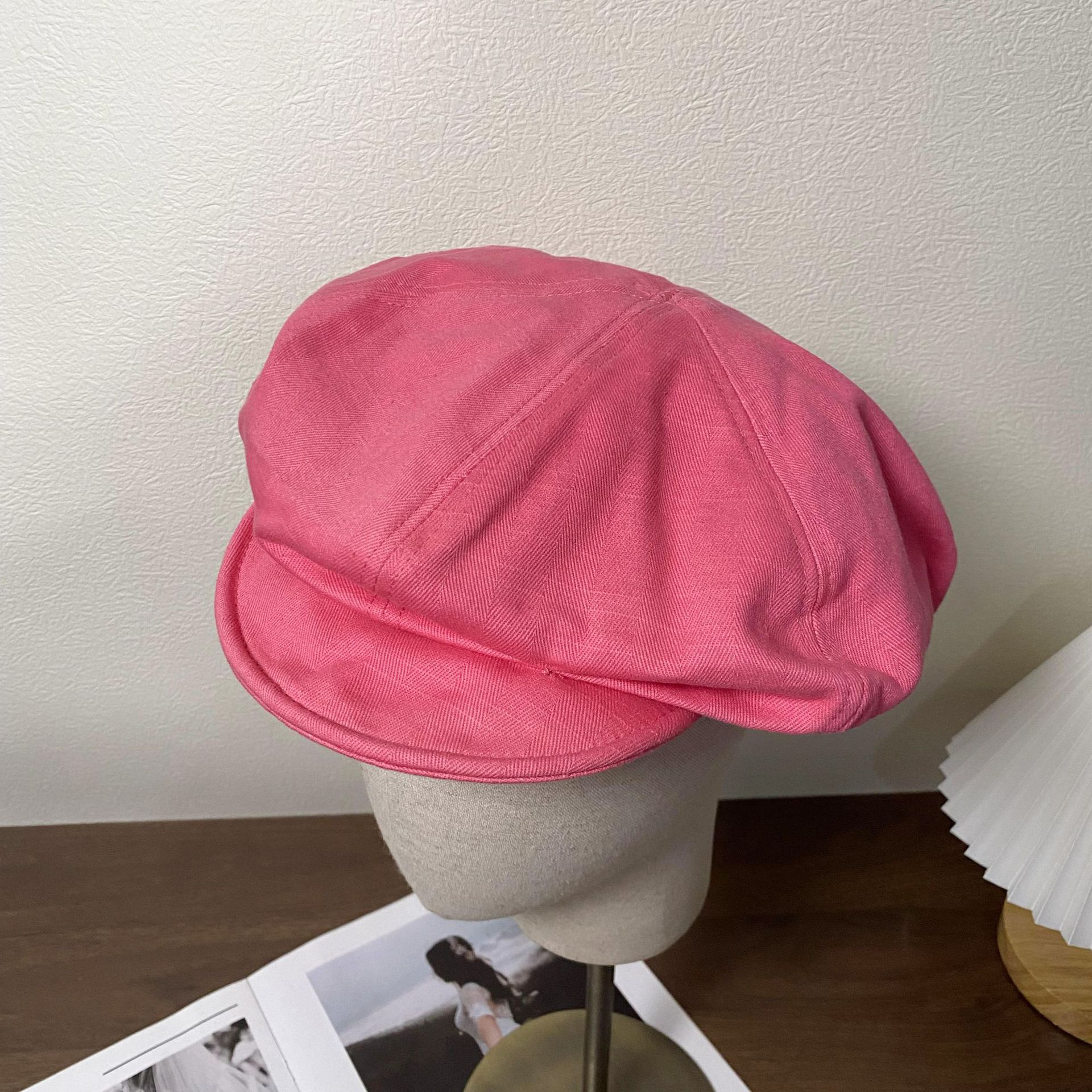 Trendy Retro Solid Colored Hat for Outdoor Stroll