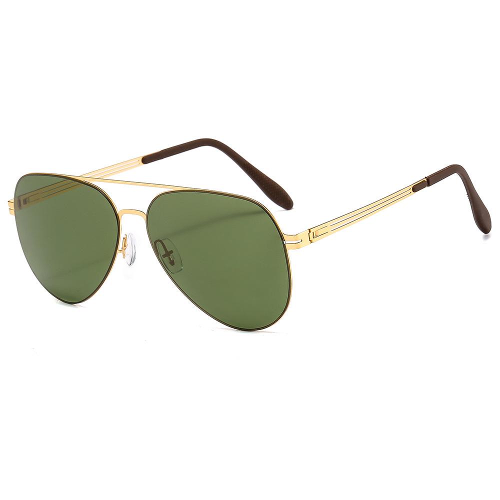 Iconic Metal Aviator Sunglasses for Motor Riding