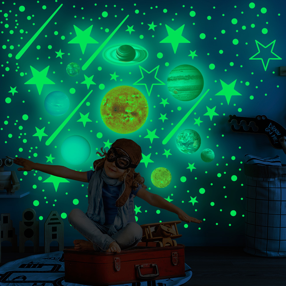 Luminous Solar System for Children's Room Wall Decoration