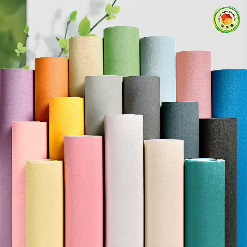 Pure Pigment Thick Self-Adhesive Wallpaper for Decorating Home