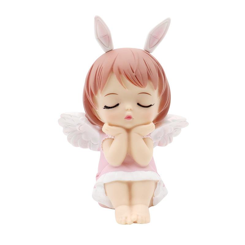 Cute Miniature Praying Angel for Car Interior Decoration
