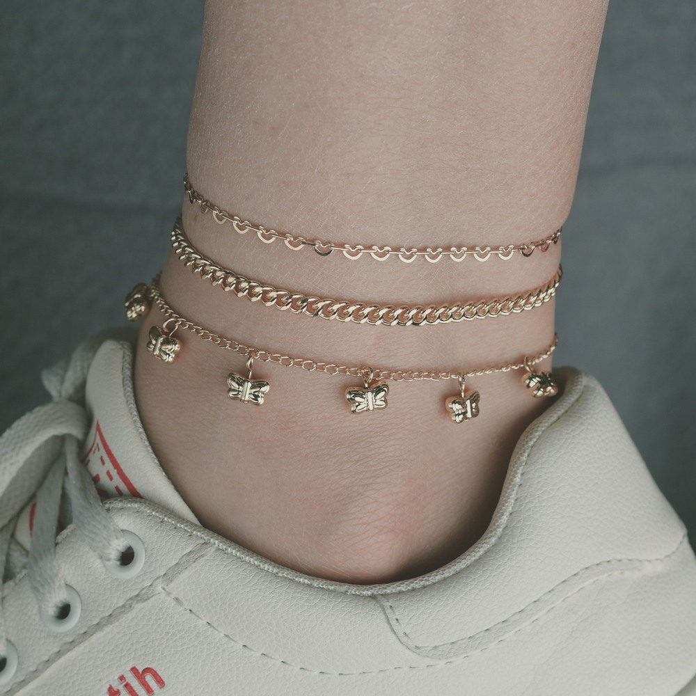 Dazzling Alloy Anklets for Birthday Gift