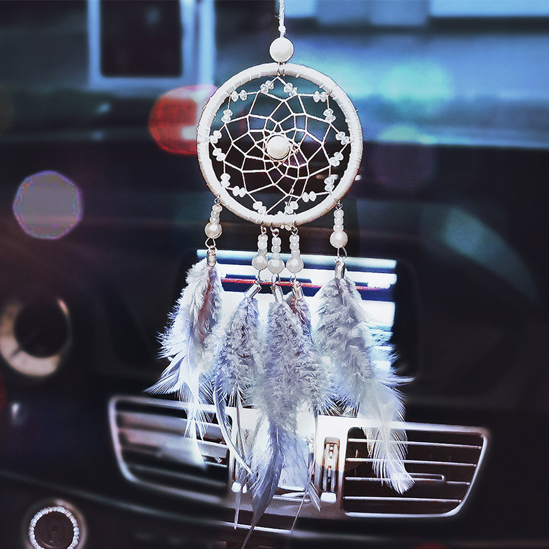 Charm Dream Catcher Pendant for Car Rearview Mirror Hanging Decoration