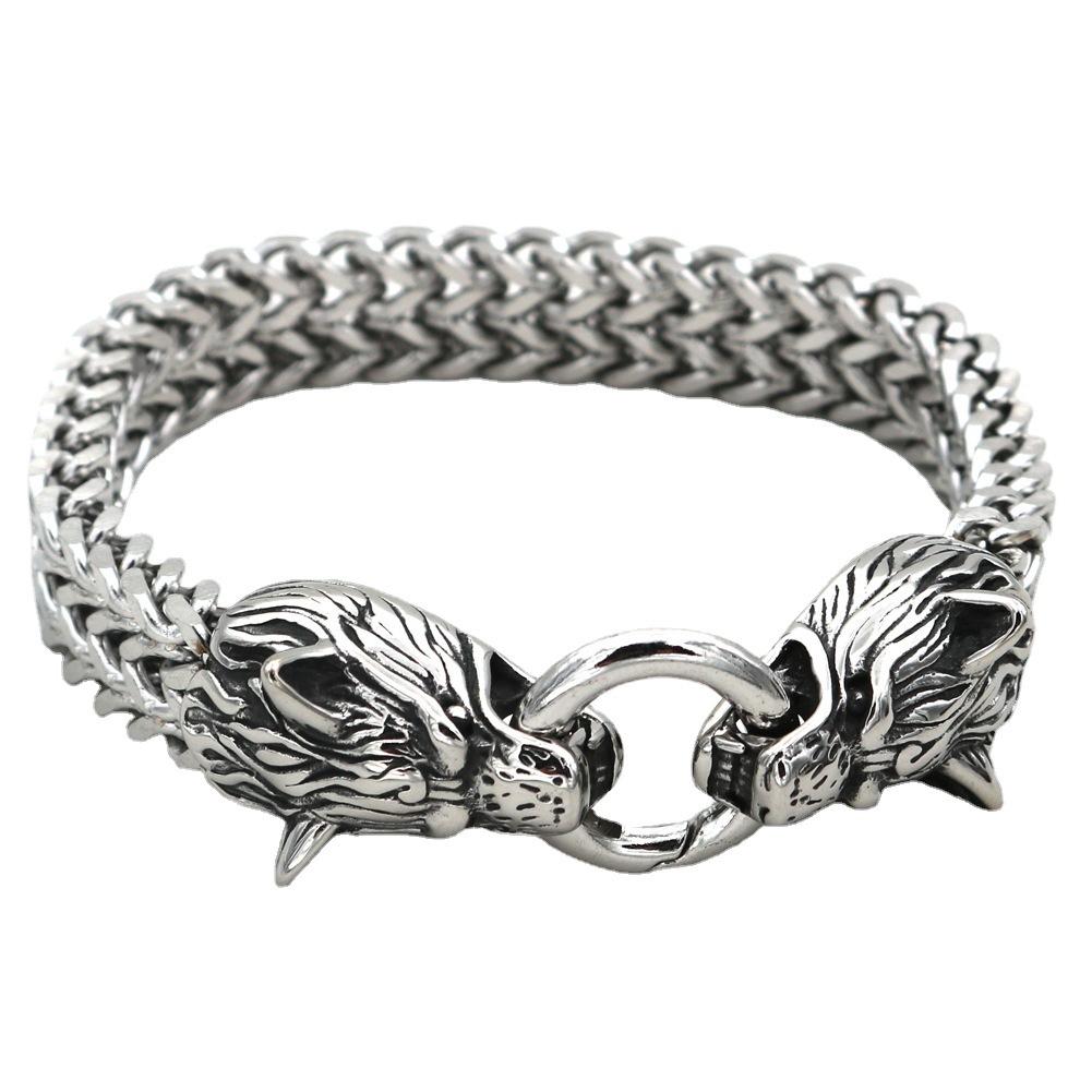 Trendy Understated Dragon Stainless Steel Bracelet for Street Fashion