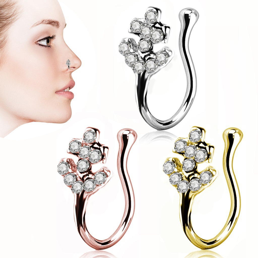 Glamorous Anchor Alloy Clip-On Nose Ring for Fancy Accessory