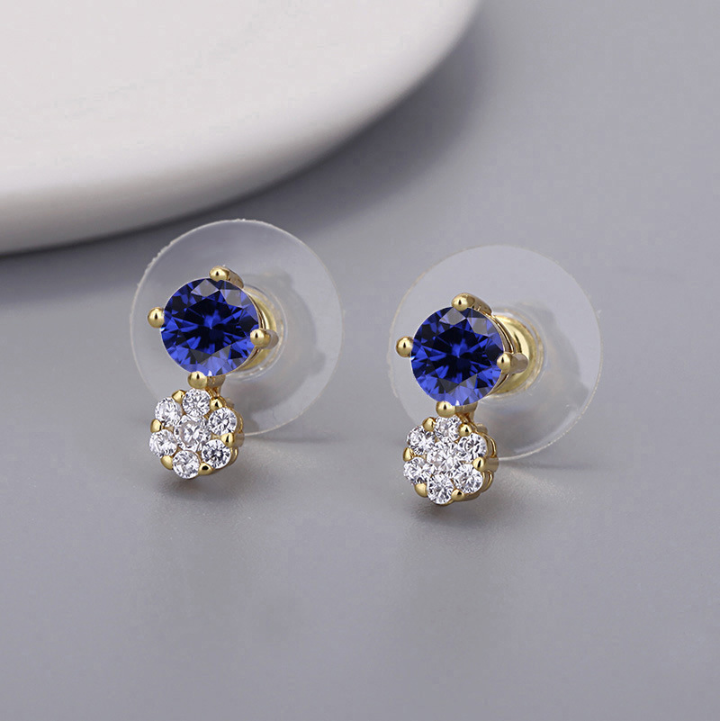 Elegant Stud Earrings Designed with Artificial Crystal for Formal Event Wear
