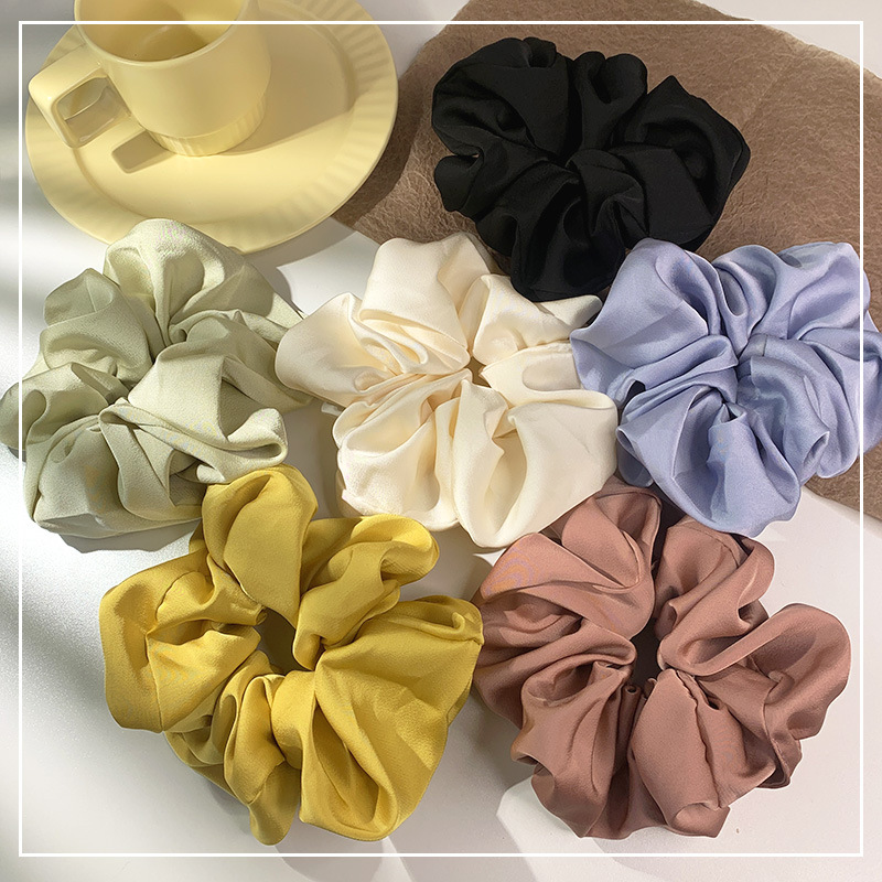 Charming Solid Color Scrunchies for Small Item Birthday Gifts