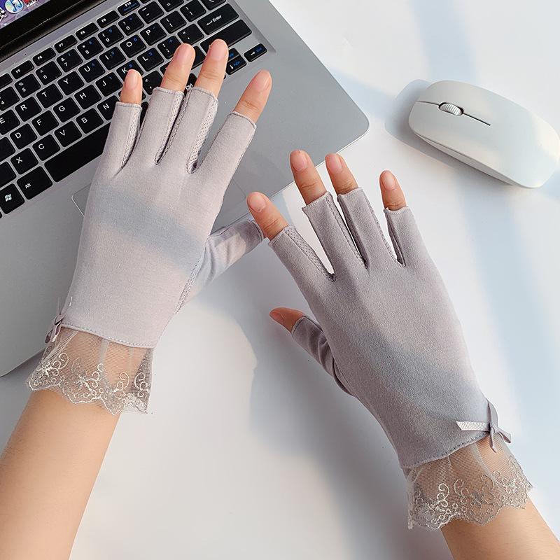 Half-Finger Lace Gloves for Car Driving