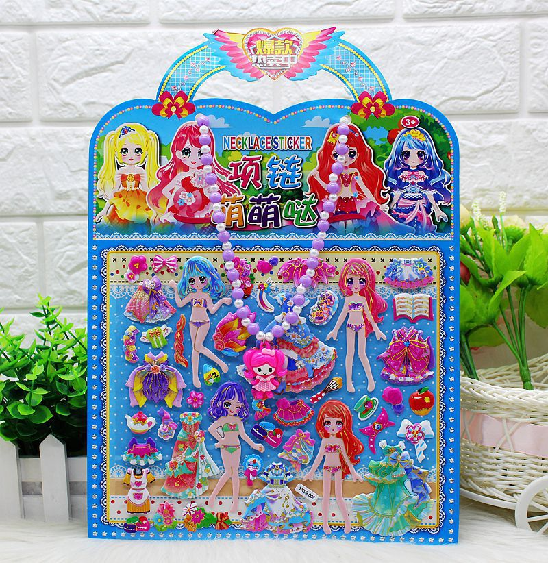 Adorable Paper Dress Up Doll Toy for Girlie Toys