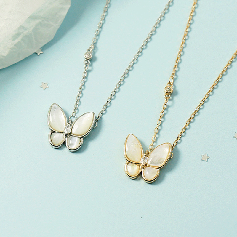 Butterfly Long Colored Necklace for Chic Style