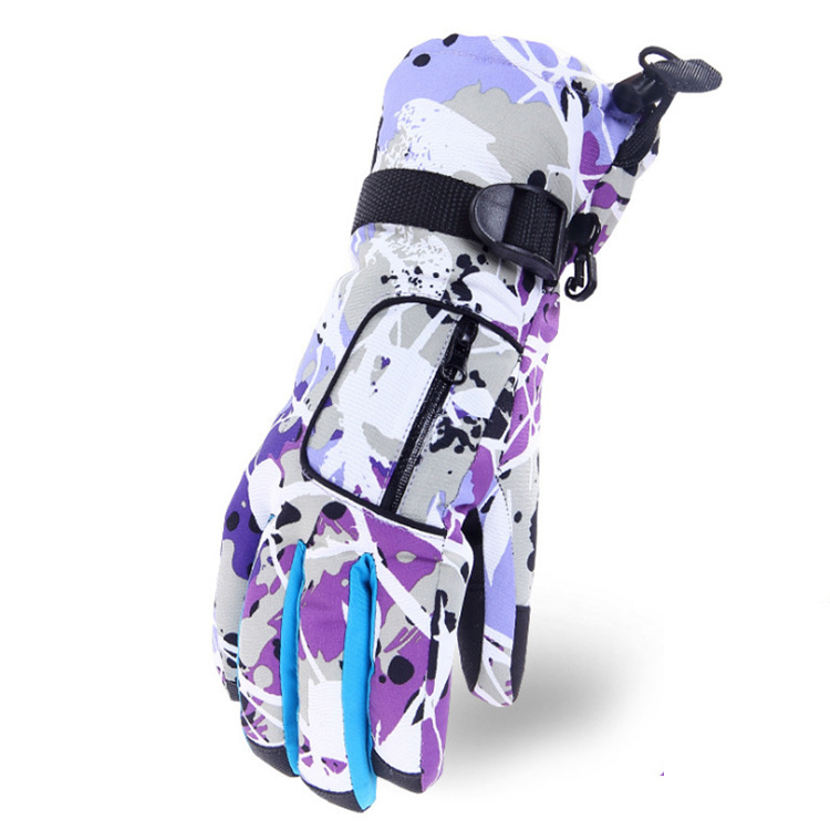Psychedelic Adjustable Hand Gloves for Hiking Mountains
