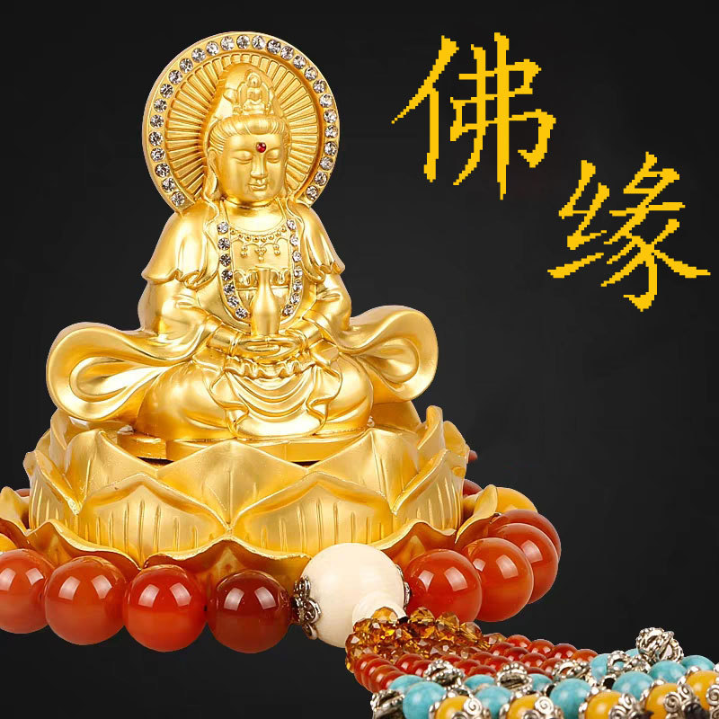 Majestic Guanyin Statue Car Perfume for Refreshing Scents