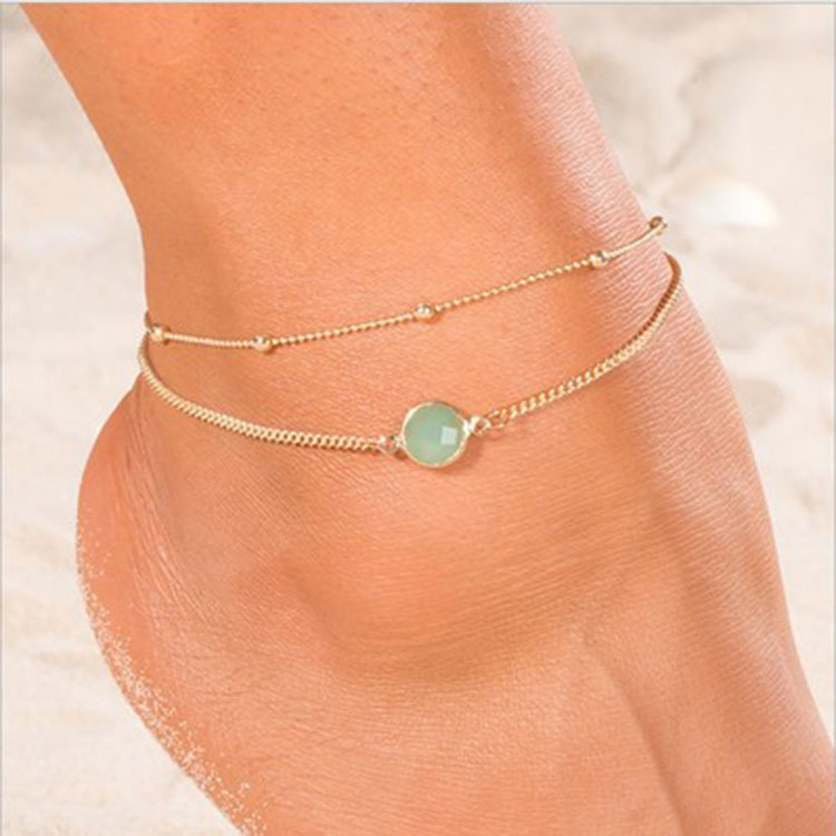 Eye-Catching Alloy Anklets for Pool Party