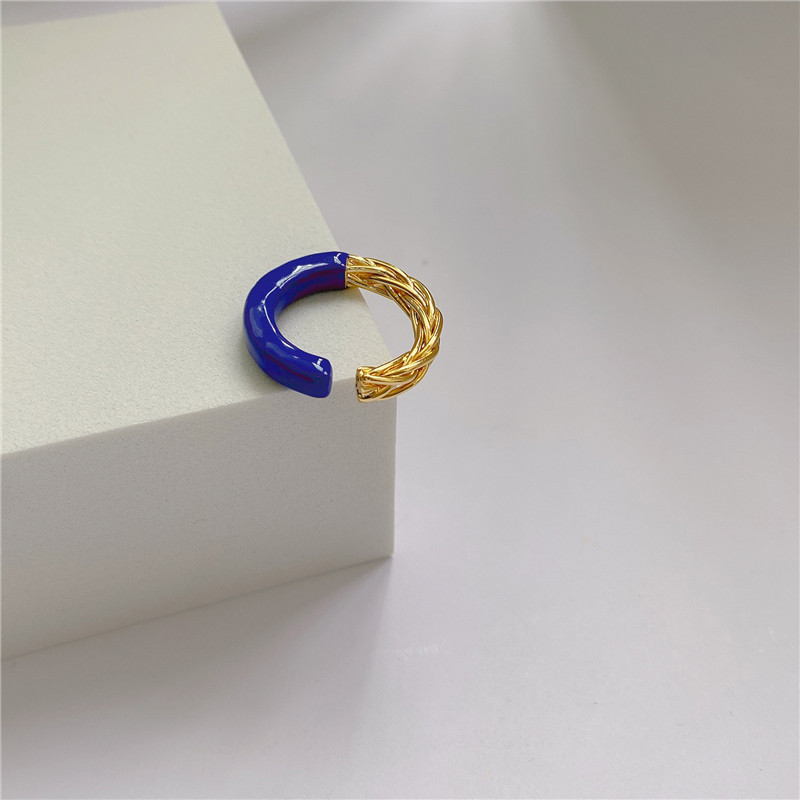 Gorgeous Two-Toned Adjustable Ring for Girl Boss Outfits