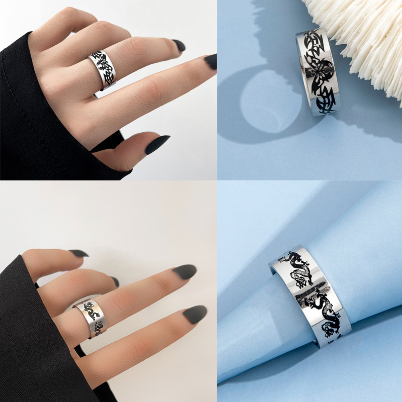 Funky Stainless Steel Assorted Rings for Street Style Fashion