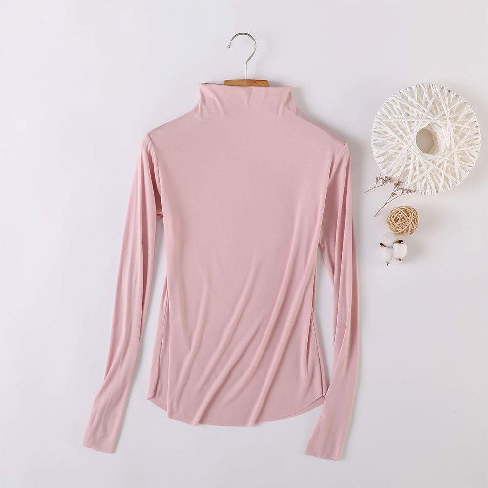 Stretchable Plain Colored High Neck Sweater for Stylish Winter Outfits