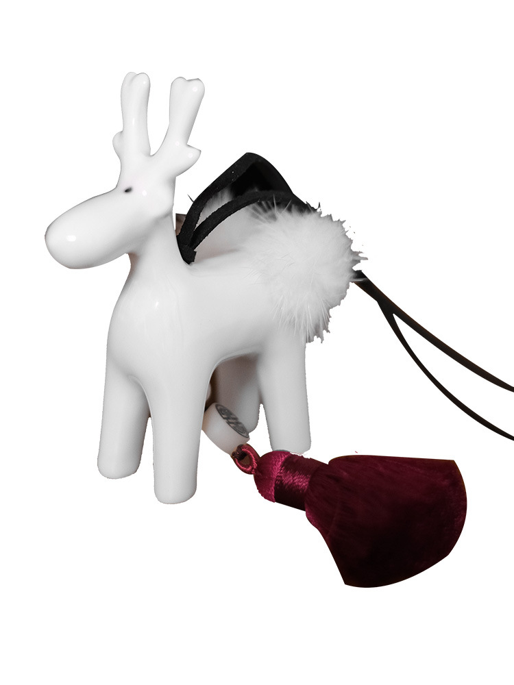 Cute Small Deer and Tassel Pendant for Car Accessories