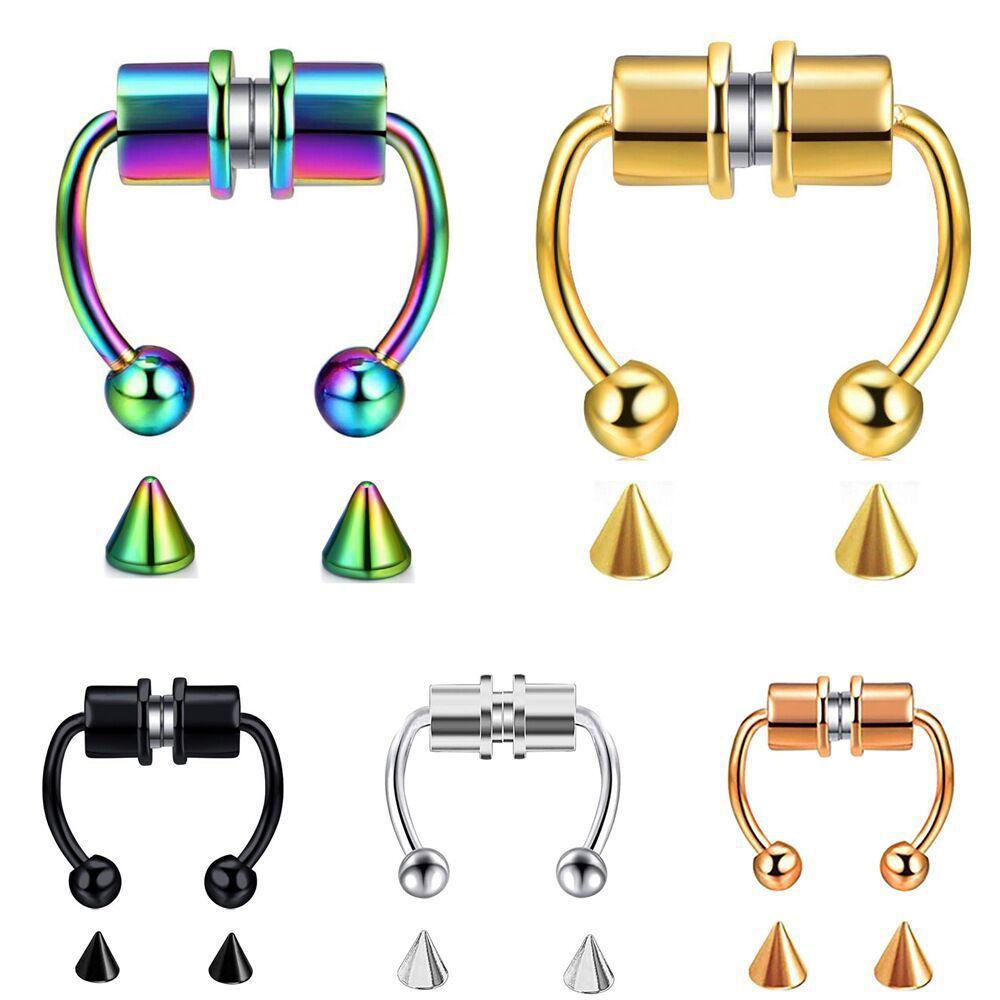 Fake Stainless Steel Nose Ring for Nose Accessories