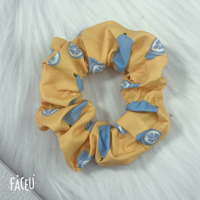 Cute Pastel-Colored Scrunchie for Summer Use
