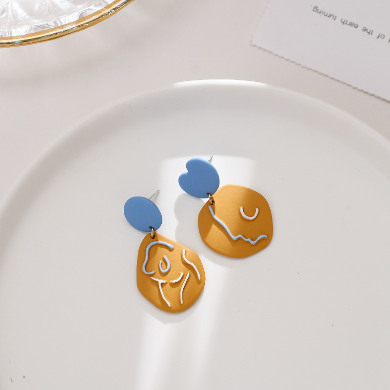 Modern Abstract Design Push Back/Clip-On Earrings for Trendy Accessories
