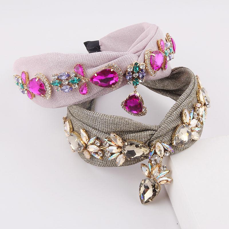 Fabulous Faux Diamond-Studded Headband for Chic Looks