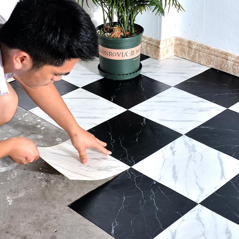 Sleek Nonslip Checkered Sticker Floor for Modish Interiors