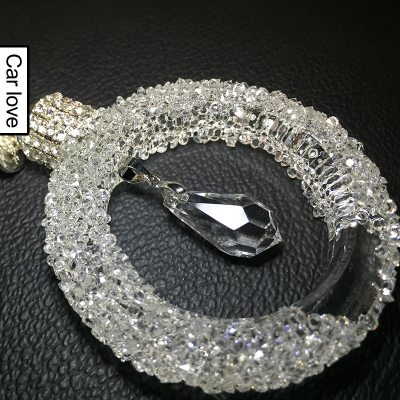 Beautiful Ribbon-Designed Star and Circle Crystal Hanging Pendant for Car Accessories