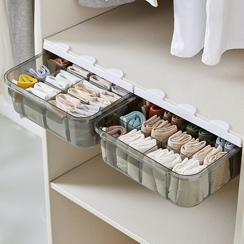 Firm Storage Box with Partition for Storing Neckties