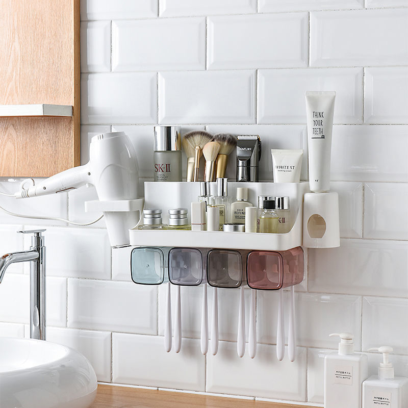 Compact Polypropylene and Polystyrene Organizer for Bath Rooms