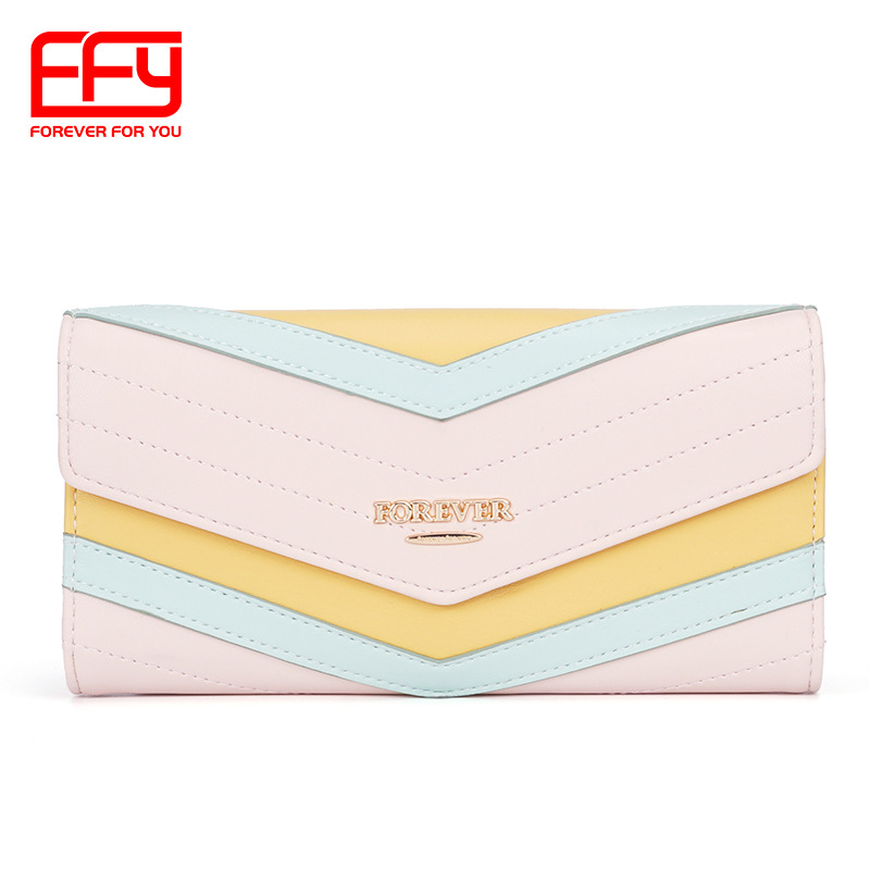 Lovely Color Envelope Long Wallet for Carrying Cash and Cards