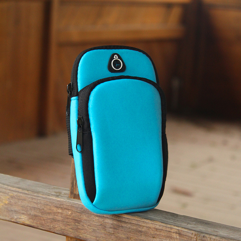 Trendy Candy-Colored Mobile Phone Arm Bag for Morning Jogs