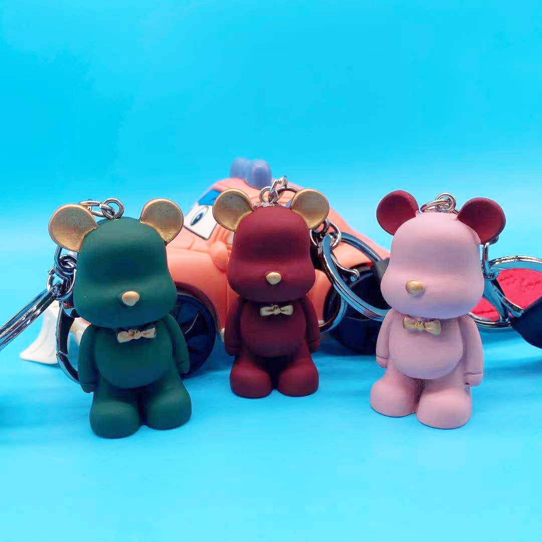 Multi-Color Cute Bear Bag Keychains for Friends Gift Giving
