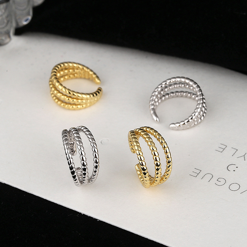 Alluring Triple C-Shaped Ear Clips for Matching Chic Outfits