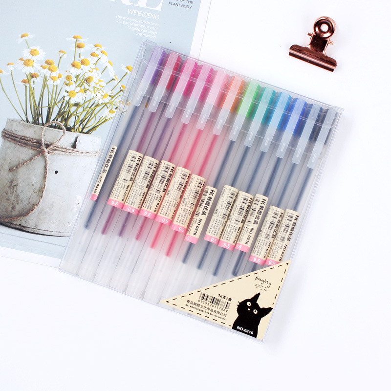 Minimalist Frosted Gel Pen for Students' Art Materials