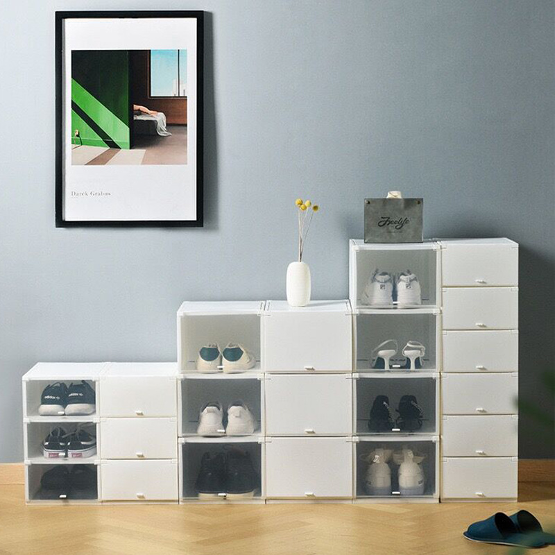 Double Open Door Shoe Box for Organizing Sneakers Collection