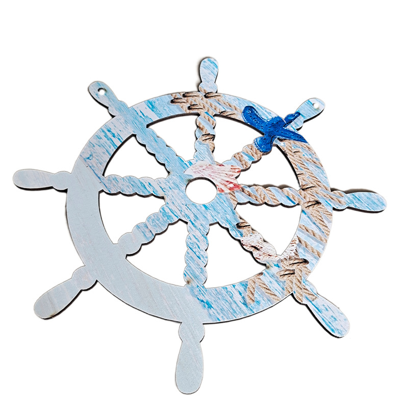 Nautical White and Blue Wooden Décor for Boat Enthusiasts