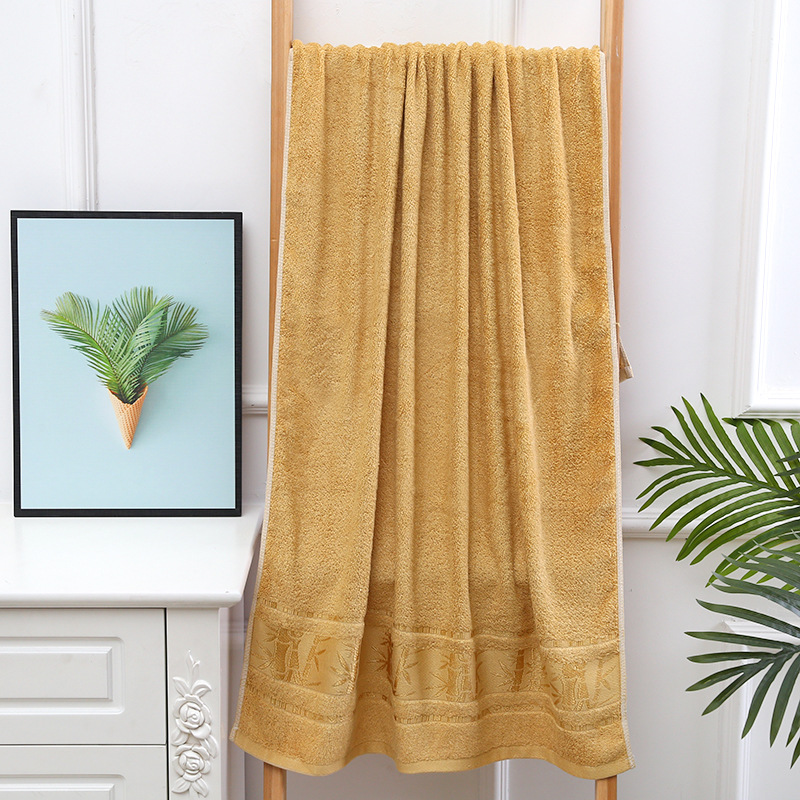 Solid-Colored Bamboo Fiber Bath Towel for Drying Your Body