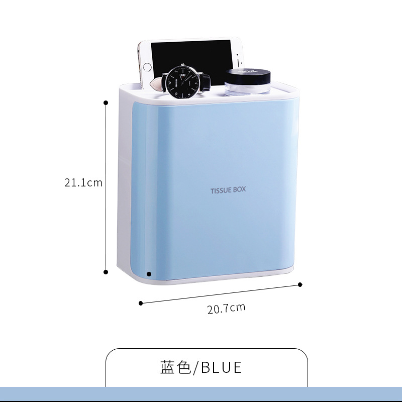 Multi-Functional Waterproof Plastic Tissue Box for Bathroom