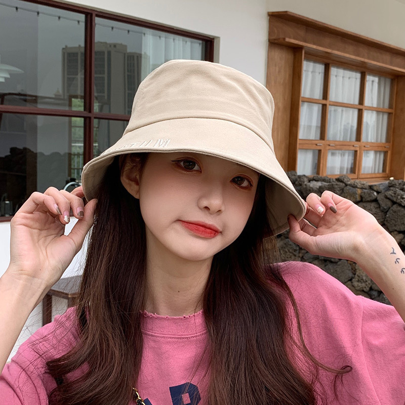 Solid Color Cotton Bucket Hat for Street-Style Looks