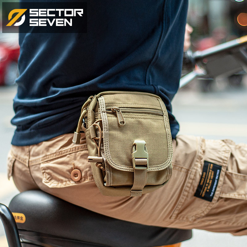 Durable Solid Color and Camouflage Waist Bag for Everyday Commute